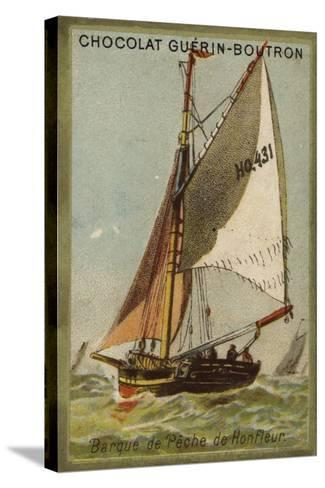 Honfleur Fishing Boat--Stretched Canvas Print