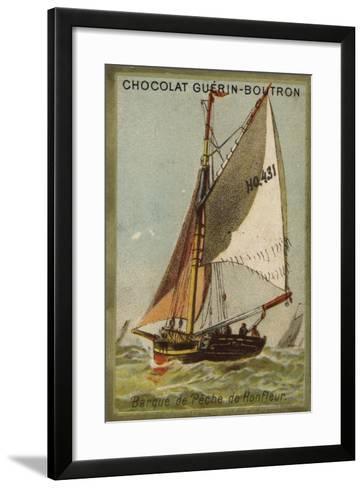 Honfleur Fishing Boat--Framed Art Print