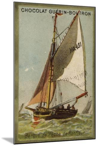 Honfleur Fishing Boat--Mounted Giclee Print