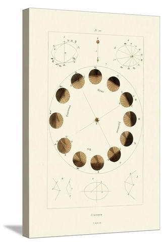 Universe, 1833-39--Stretched Canvas Print