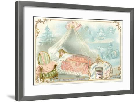 The Baby's Dream--Framed Art Print