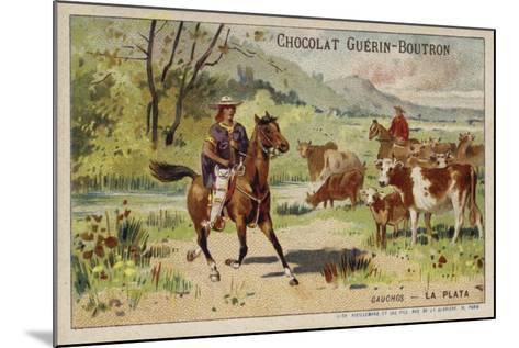 Gauchos, Argentina--Mounted Giclee Print