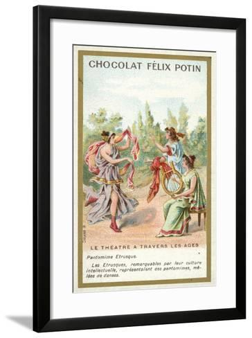 Etruscan Pantomime--Framed Art Print