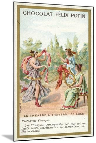 Etruscan Pantomime--Mounted Giclee Print