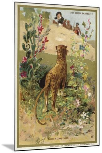 Hunting a Panther--Mounted Giclee Print