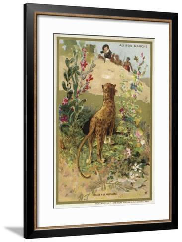 Hunting a Panther--Framed Art Print