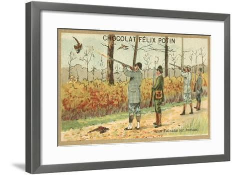Hunting Pheasant--Framed Art Print