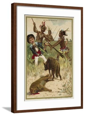 The Hyenas--Framed Art Print