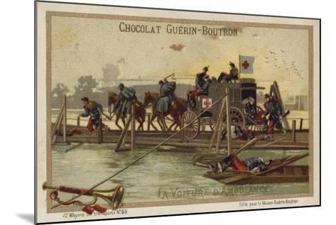 Military Ambulance--Mounted Giclee Print