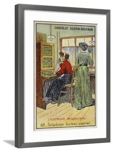 Telephone Exchange--Framed Art Print