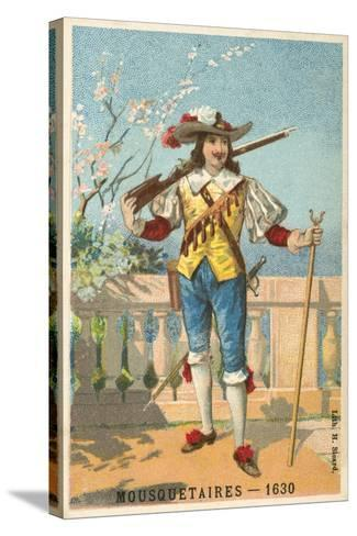 Musketeer, 1630--Stretched Canvas Print