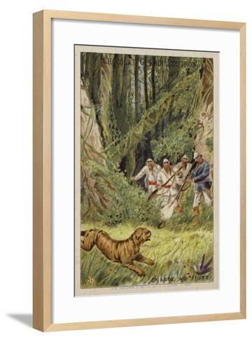 Tiger Hunting--Framed Art Print