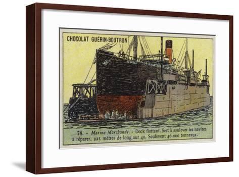 Floating Dock--Framed Art Print