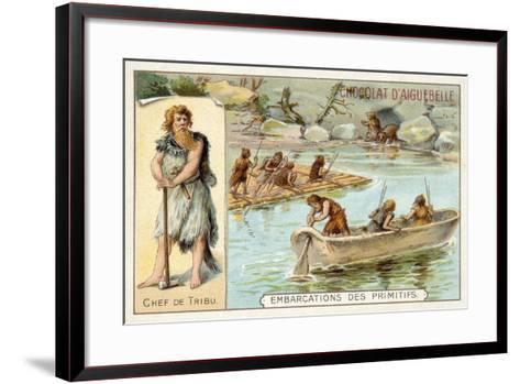 Prehistoric Boats--Framed Art Print