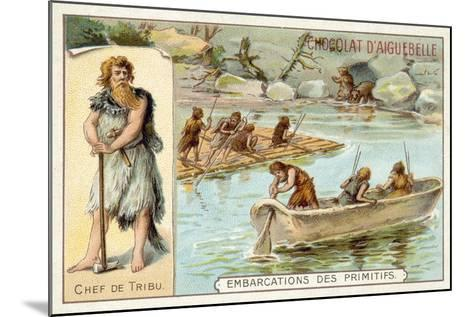 Prehistoric Boats--Mounted Giclee Print
