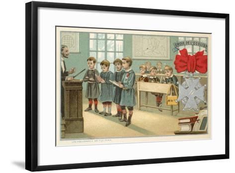 Schoolboy's Cross--Framed Art Print