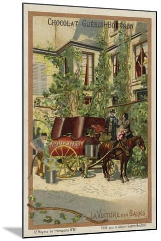 Bathing Wagon--Mounted Giclee Print