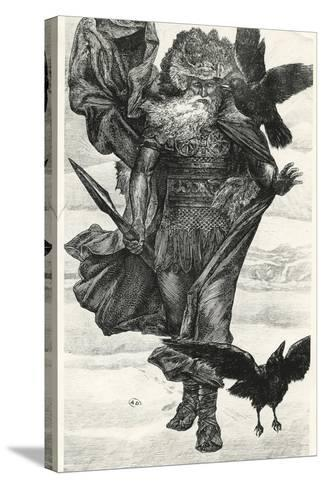 Odin and His Crows--Stretched Canvas Print
