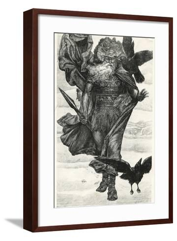 Odin and His Crows--Framed Art Print