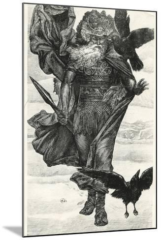 Odin and His Crows--Mounted Giclee Print