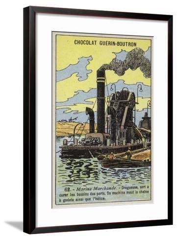 Steam Dredger--Framed Art Print