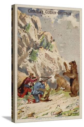 Hunting Bears--Stretched Canvas Print