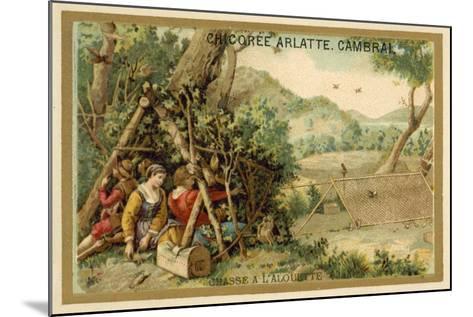 Hunting Larks--Mounted Giclee Print