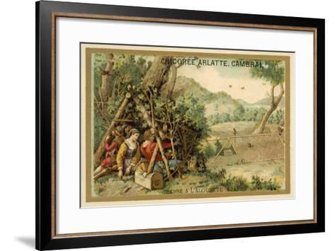 Hunting Larks--Framed Art Print