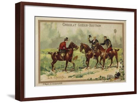 Riding Horses--Framed Art Print