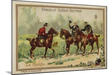 Riding Horses--Mounted Giclee Print
