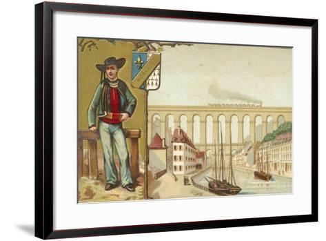 Morlaix, Brittany--Framed Art Print