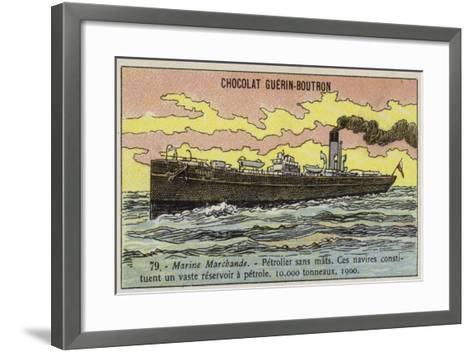 Oil Tanker, 1900--Framed Art Print