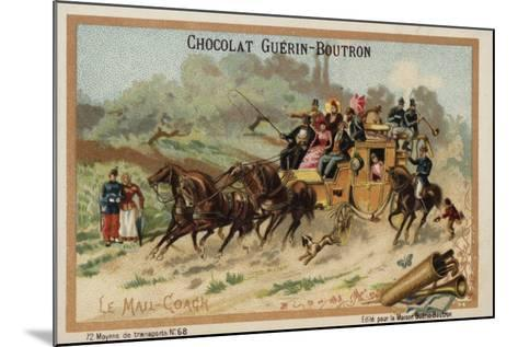 Mail Coach--Mounted Giclee Print