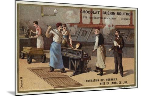 Manufacturing Coins--Mounted Giclee Print