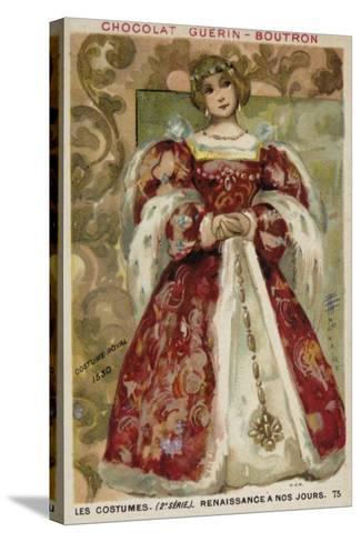 Royal Dress, 1530--Stretched Canvas Print