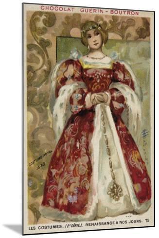 Royal Dress, 1530--Mounted Giclee Print