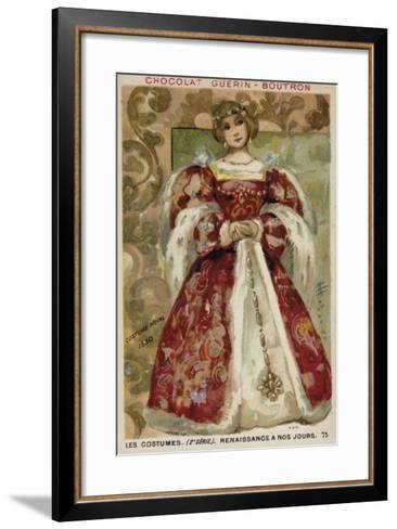 Royal Dress, 1530--Framed Art Print