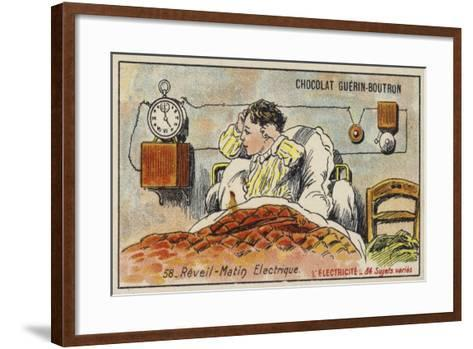 Electric Alarm Clock--Framed Art Print