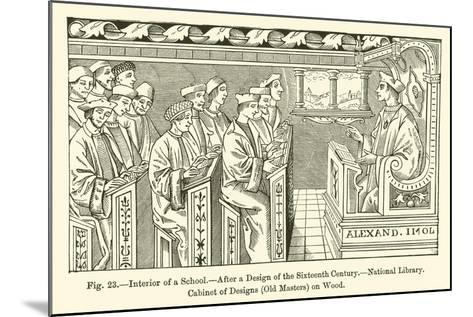 Interior of a School--Mounted Giclee Print