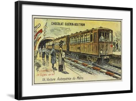 Electric Metro Train--Framed Art Print