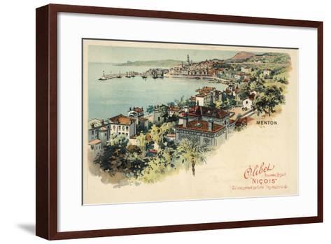 Menton, France--Framed Art Print
