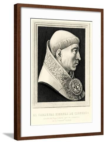 Francisco Ximenes De Cisneros, 1884-90--Framed Art Print