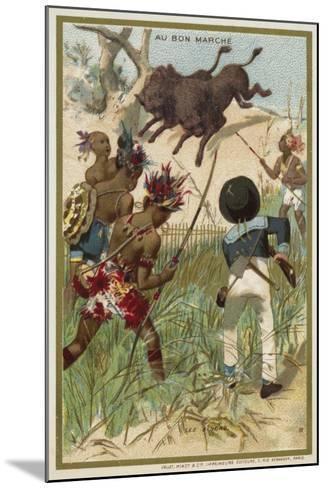 The Bison--Mounted Giclee Print