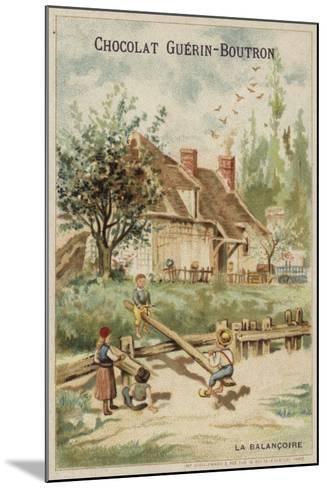 Seesaw--Mounted Giclee Print