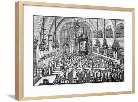 The Gathering in the Synagogue, 1705--Framed Art Print