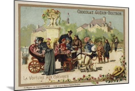 Goat Cart--Mounted Giclee Print