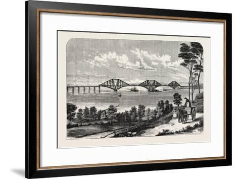 Continuous Steel Girder Bridge to Cross the Firth of Forth, UK, 1882--Framed Art Print