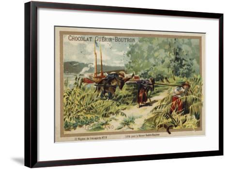 Barge--Framed Art Print