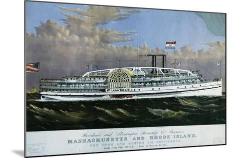 Mississippi Paddle Wheel Steamer, 1887, United States, 19th Century--Mounted Giclee Print