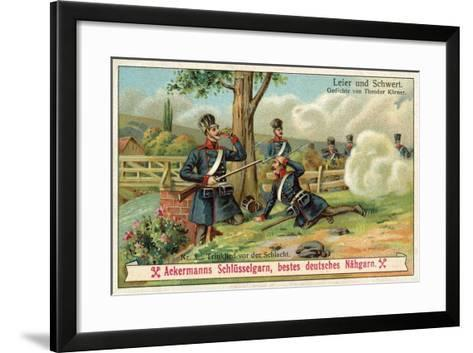 Drinking Song before the Battle--Framed Art Print